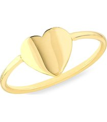 saks fifth avenue women's 14k yellow gold cut out heart ring - size 7