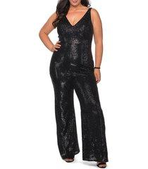 plus size women's la femme sparkle jumpsuit