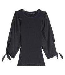 blusa manga tecido eva - feminino