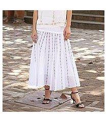 cotton skirt, 'floral stripes' (india)