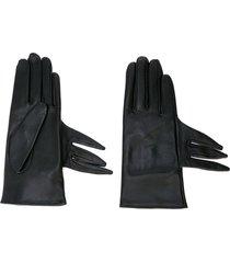 yohji yamamoto deconstructed short gloves - black