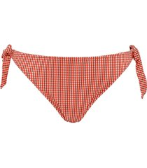 côte d'azur tie & bow bikini briefs |  red and white - m