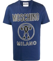 moschino embossed question mark t-shirt - blue