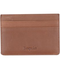 bespoke men's brown leather card case