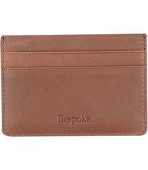 bespoke men's brown leather card case