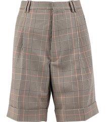 maison margiela checked shorts