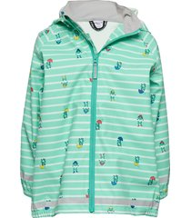 rain jacket stripe/aop preschool outerwear rainwear jackets grön polarn o. pyret