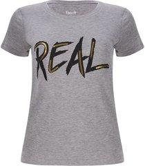 camiseta real color gris, talla l