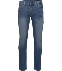 man denim 5 pockets pant slimmade jeans blå armani exchange