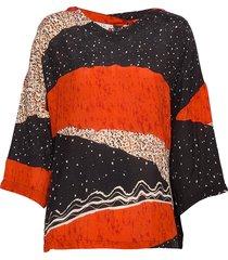 darleen blouse lange mouwen multi/patroon masai
