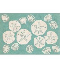 "liora manne frontporch shell toss 1'8"" x 2'6"" area rug"