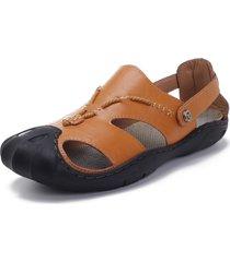 sandali con punta a collant resistenti allo scivolamento esterni anti-collisione da uomo
