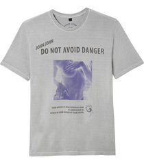 camiseta john john avoid danger masculina (moonstruck, gg)