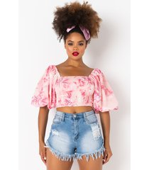 akira cosmo off the shoulder floral blouse