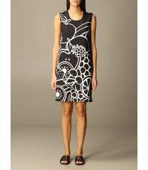 boutique moschino dress sleeveless silk dress with apple print boutique moschino