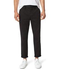 men's joe's the soder slim fit flat front pants, size 33 - black