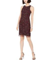 adrianna papell petite embellished sheath dress