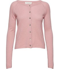 wool & cashmere cardigan ls gebreide trui cardigan roze rosemunde