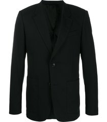 ami paris button-front blazer - black