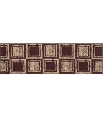 passadeira 3,50m veludo pa-16 tabaco - marrom - dafiti