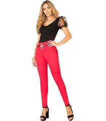 jeans colombiano 1302  rojo bartolomeo