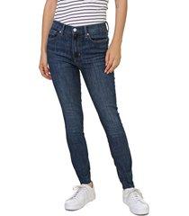 calça jeans gap jegging pespontos azul-marinho