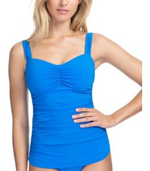 profile by gottex tutti frutti tankini swim top with underwire, available in d cup women's swimsuit
