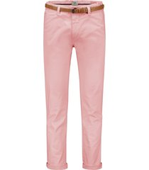 dstrezzed chino pantalon met riem stretch roze