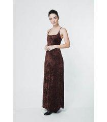 vestido marrón sans doute nasser