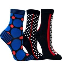 love sock company3 pack women's socks bundle with polka dots and stars by