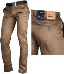 pantalón en drill-espandex autoritaria para hombre - camel