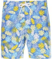 pantalóneta de baño aloha color azul, talla l