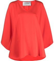 valentino cape-effect blouse