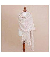 alpaca blend shawl, 'soft surround' (peru)