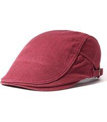 unisex casual berretto coppola in cotone a prova di vento comodo in colore a tinta unita