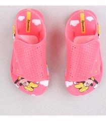 sandália infantil ipanema minnie estampada rosa