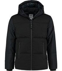 winterjas hooded puffer jacket zwart (101264 - 999n)
