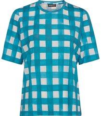 leonie, 840 allover tee t-shirts & tops short-sleeved blauw stine goya