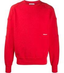 ambush logo-print sweatshirt - red