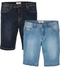 bermuda in jeans elasticizzato regular fit (pacco da 2) (blu) - john baner jeanswear