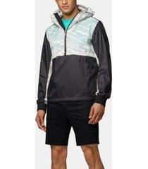 boss men's j mersey water-repellent half-zip jacket
