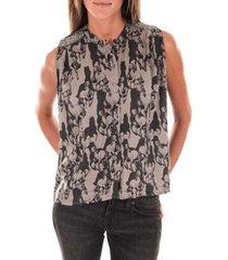 blouse vero moda top horse gris noir