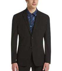 perry ellis premium black extreme slim fit tech suit