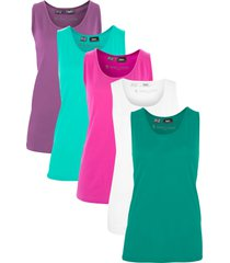 top lungo (pacco da 5) (verde) - bpc bonprix collection