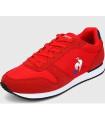 tenis lifestyle rojo-azul-blanco le coq sportif matrix