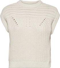 objtrish knit waistcoat 114 t-shirts & tops knitted t-shirts/tops grå object