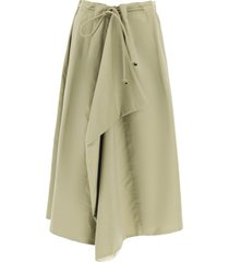 lemaire wide draped skirt