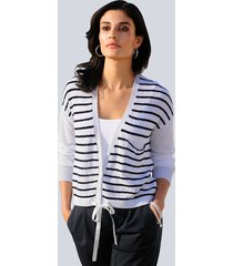 vest alba moda marine::offwhite::zilverkleur