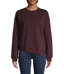 allsaints women's leti able cotton sweatshirt - jet black - size s