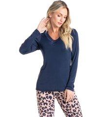 pijama longo animal print daniele